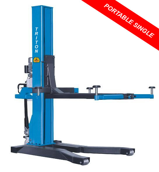Single Post Hydraulic Lift Portable Movable 2 5 Ton Car Lifts